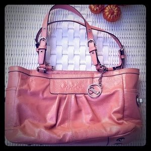 Coach pink patent bag